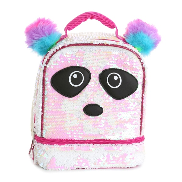 Girls Backpack /& Lunch Bag Set Silver OR Pink OR Flip Sequin Rainbow NWT $39